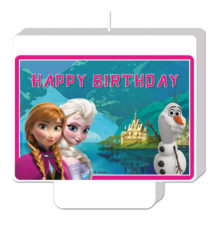 """Frozen Northern Lights - """"Happy Birthday"""" Décor Candle - 84649"""