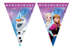 Frozen Northern Lights - Triangle Flag Banner (9 Flags) - 86921
