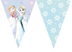 Frozen Sparkle - Triangle Flag Banner (9 Flags)