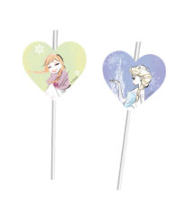 Frozen Sparkle - Medallion Flexi Drinking Straws