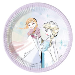 Frozen Sparkle - Paper Plates Medium 20cm - 89097