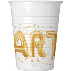 Gold Party - Plastic Cups 200ml - 89639