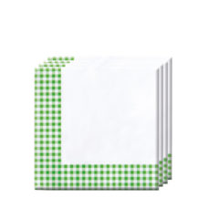 Red, Green, Yellow, Black, Blue Squares - Two-ply Paper Napkins 33x33cm Green Squares