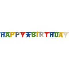 "Garlands - ""Happy Birthday"" Metallic Die-Cut Banner - 89793"