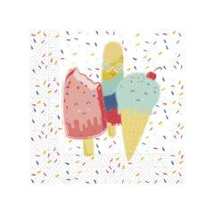 Happy Ice Cream - Two - Ply Paper Napkins 33 x 33 cm - 90236