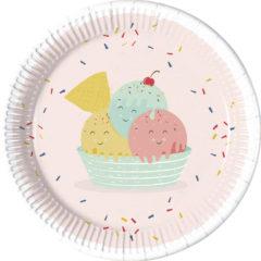 Happy Ice Cream - Paper Plates Large 23 cm - 90234