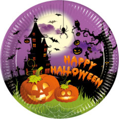 Happy Spooky Halloween - Paper Plates Large 23cm