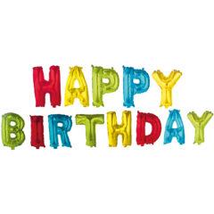 """Letter Foil Balloons - """"Happy Birthday"""" Foil Balloons - 89652"""
