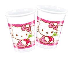 Hello Kitty Hearts - Plastic Cups 200ml - 81793