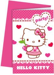 Hello Kitty Hearts - Invitations & Envelopes - 81797