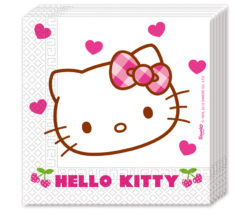 Hello Kitty Hearts - Two-ply Paper Napkins 33x33cm - 81794
