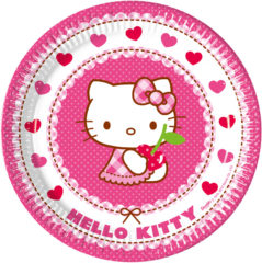 Hello Kitty Hearts - Paper Plates Large 23cm - 81791