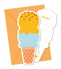Ice Cream Passion - Die-cut Invitations & Envelopes