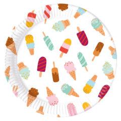 Ice Cream Passion - Paper Plates Large 23cm