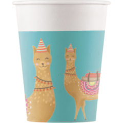 Llama - Paper Cups 200ml - 89736
