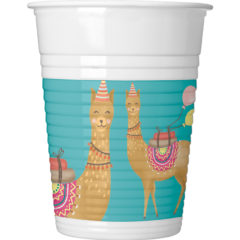 Llama - Plastic Cups 200ml - 89630
