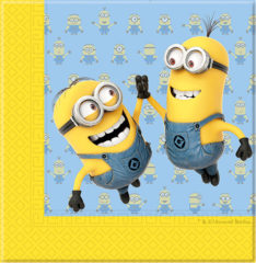 Lovely Minions - Two-ply Paper Napkins 33x33cm