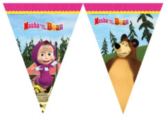 Masha And The Bear - Triangle Flag Banner (9 Flags) - 86563
