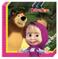 Masha And The Bear - Two-ply Paper Napkins 33x33cm