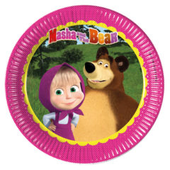 Masha And The Bear - Paper Plates Large 23cm