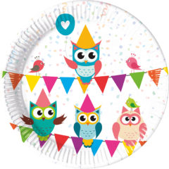 My Best Friend Owl - Paper Plates Medium 20cm - 89780