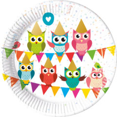 My Best Friend Owl - Paper Plates Large 23cm - 89584