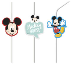 Mickey Awesome - Medallion Flexi Drinking Straws - 89011