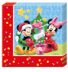 Mickey Christmas Time - Two-ply Paper Napkins 33x33cm