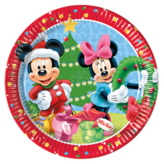 Mickey Christmas Time - Paper Plates Large 23cm
