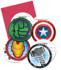 Mighty Avengers - Die-cut Invitations & Envelopes