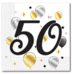 Milestone - Three-ply Paper Napkins 33x33cm Age 50