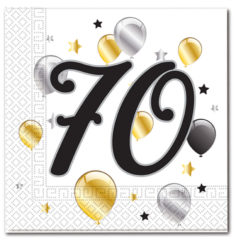 Milestone - Three-ply Paper Napkins 33x33cm Age 70