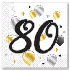 Milestone - Three-ply Paper Napkins 33x33cm Age 80
