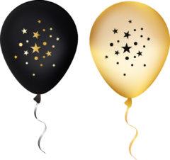 Milestone - 11 Inches Printed Balloons Stars