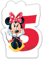 Minnie Happy Helpers - Candle No 5 - 82924