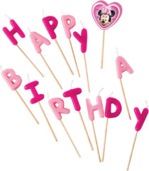 "Minnie Happy Helpers - ""happy Birthday"" Toothpick Candles"