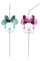 Minnie Party Gem - Medallion Flexi Drinking Straws - 88984