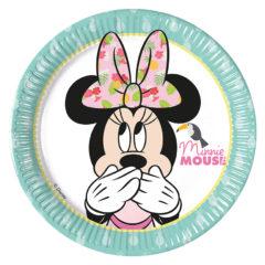 Minnie Tropical - Paper Plates Medium 20cm - 89230