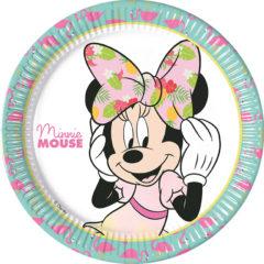 Minnie Tropical - Paper Plates Large 23cm - 89229