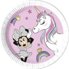 Decorata™ Compostable Minnie Unicorn Dreams - Industrial Compostable Paper Plates Large 23cm  - 90813