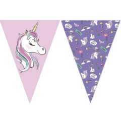 Minnie Unicorn - Triangle Flag Banner (9 Flags) - 90331