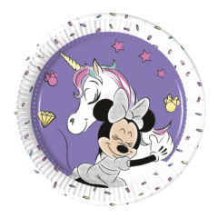Minnie Unicorn - Paper Plates 20cm (Metallic) - 90328