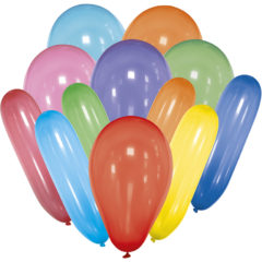 Latex Balloons - Mixed Balloons of Various Shapes and Colours - 89656