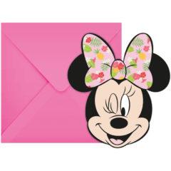 Minnie Tropical - Die-cut Invitations & Envelopes - 89237