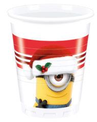 Minions Christmas - Plastic Cups 200ml - 87204