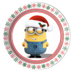 Minions Christmas - Paper Plates Medium 20cm - 87630