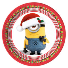 Minions Christmas - Paper Plates Large 23cm - 87203