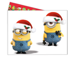 minions christmas plastic tablecover 120x180cm 87206 - Minions Christmas