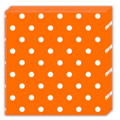 Orange Dots - Three-ply Paper Napkins 33x33cm