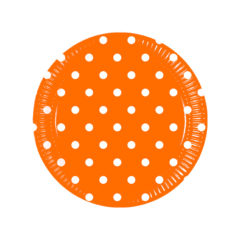 Orange Dots - Paper Plates Medium 20cm